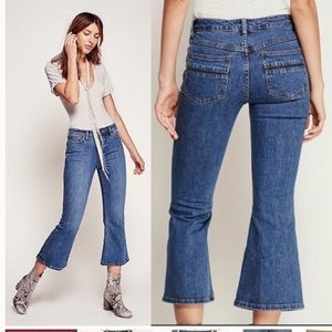 Free people Chloe cropped flare jeans